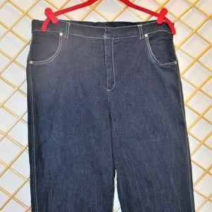 Stretch Denim Jeans by Jennifer George size 22W